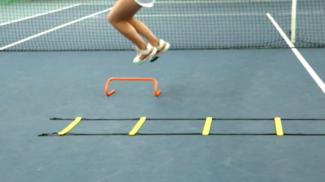 Agility Ladder - Slalom with Side Jumps over Hurdles