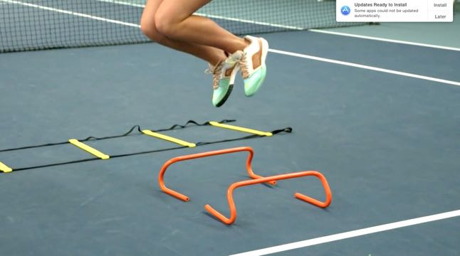 Agility Ladder - Slalom Run with Jump and Change of Direction
