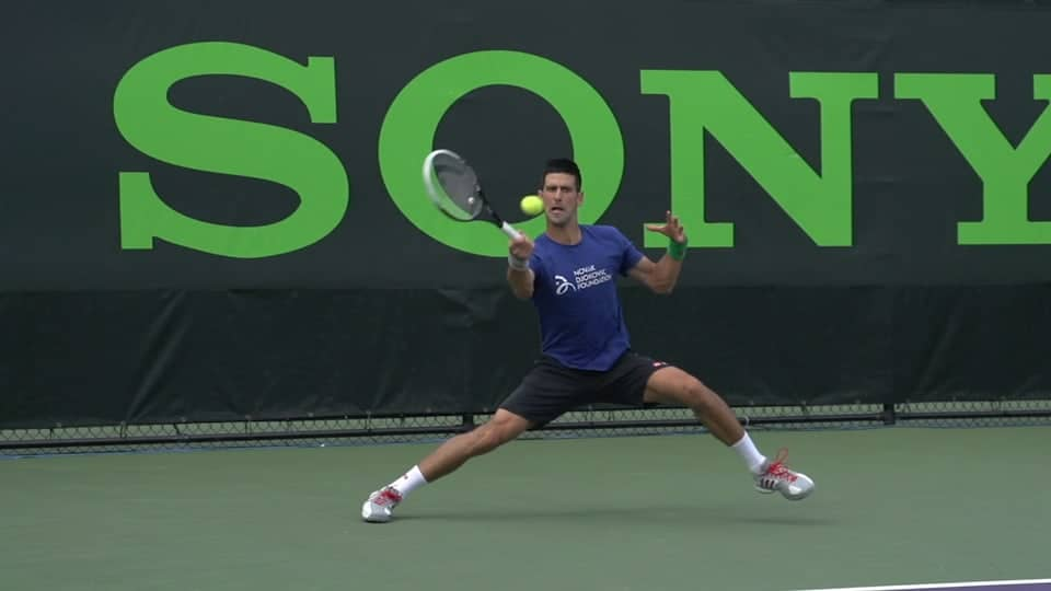 Change your Attitude to Improve your On-court Movement djokovic