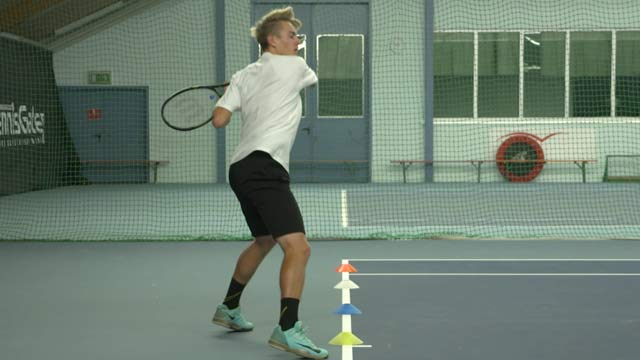 Shadow Forehands with Recovery