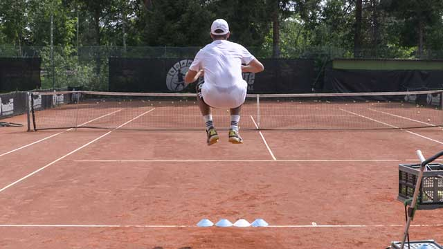 Using Kangaroo Jumps and Cones to Improve the Serve