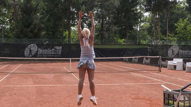 Using Whole Body Jumps and Cones to Improve the Serve
