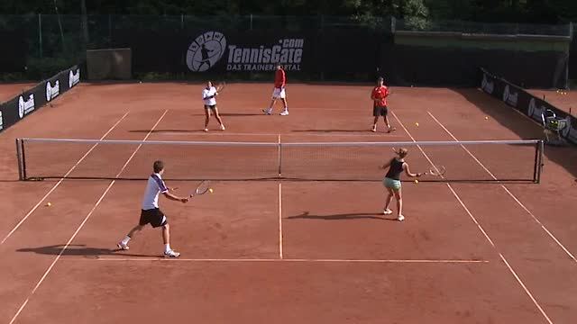 Warming up: Alternating Volleys and Groundstrokes (Short Court)