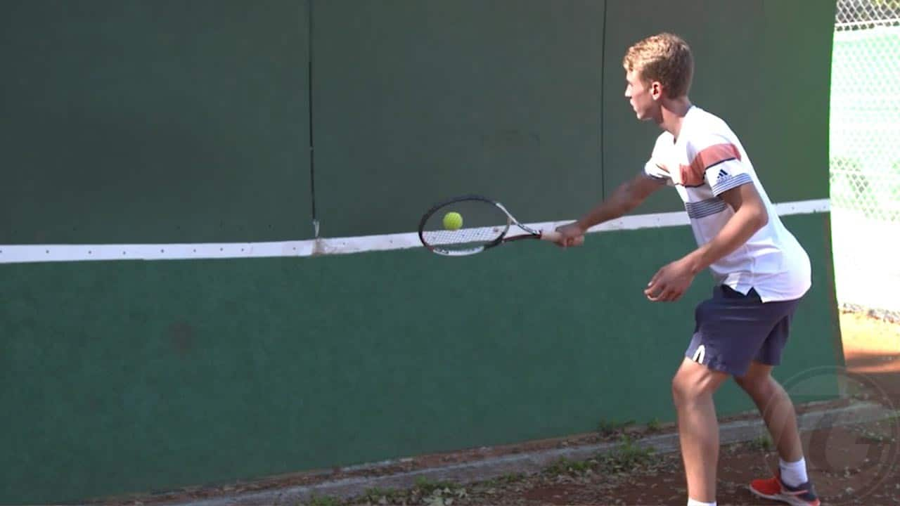 Wall Drill: Close Contact Backhand Volleys in an Open Stance